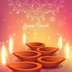indian diwali festival greeting design vector background