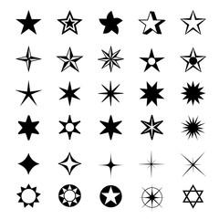 Star Shapes Symbol Icon Vector Illustration