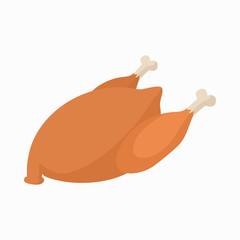 Chicken icon, cartoon style