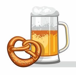 Beer mug, coloured picture.