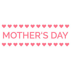 Mothers Day decorative element. Cute simple design in pink color. Vector template for Mothers Day.