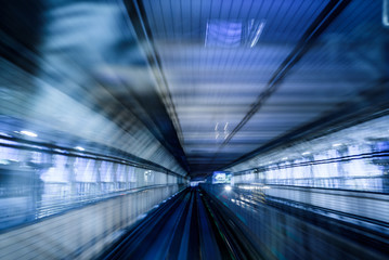 tunnel in tokyo blurred as idea of high speed