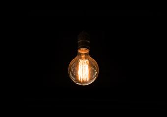 lamp decorative on black background