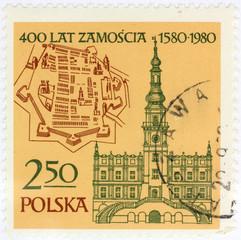zamosc old polish postage stamp