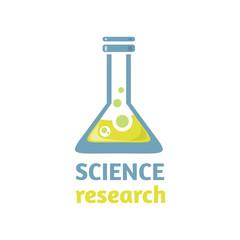 Science Research Logo Design Flat