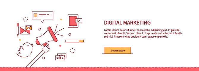 Template Web Page About Digital Marketing