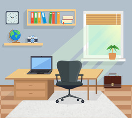 Interior Office Room. Illustration for Design