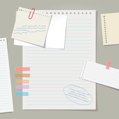 Vector note papers collection.