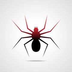 Spider icon - vector illustration.