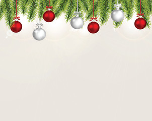 Realistic vector christmas background.