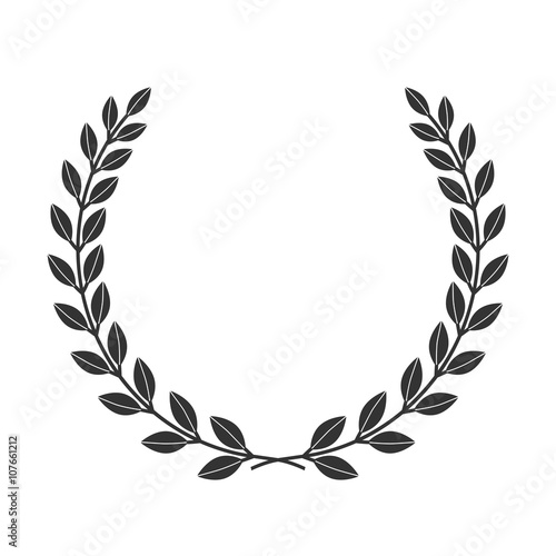 a laurel wreath icon border symbol of victory and achievement vintage design element for