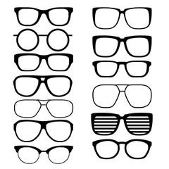 Set vector glasses