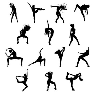 dance silhouettes set