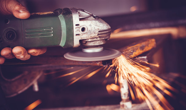 master of welding seams angle grinder