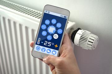 Smartphone, Tablet mit Smarthome Steuerung, Hausautomation, Fernsteuerung