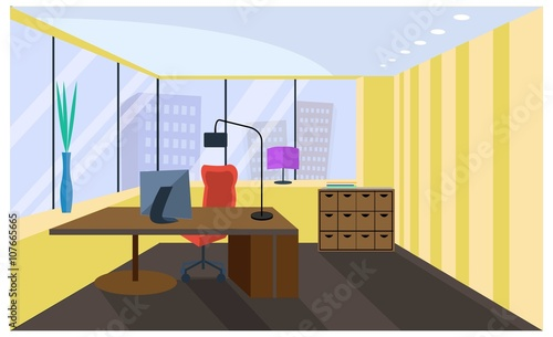 Office Interior Office Room Boardroom Vector Office