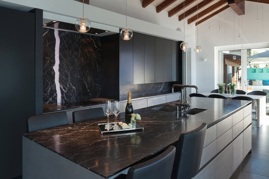 Interiors, modern kitchen