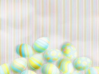 Easter eggs on paper background. EPS 10