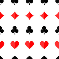 Seamless poker background with suits