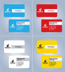 4 Set Modern business card template, Illustration Vector 10