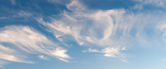 Aluminium Prints Heaven Cirrus Cloudscape