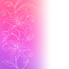 Flower violet pink abstract background illustration vector