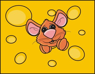 mouse, rat, rodent, pest, animal, isolated, toy, piece, cartoon, brown, pet, cheese,  hang, climb, peek, background