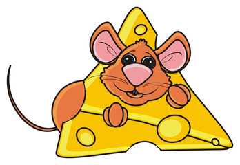 mouse, rat, rodent, pest, animal, isolated, toy, piece, cartoon, brown, pet, cheese