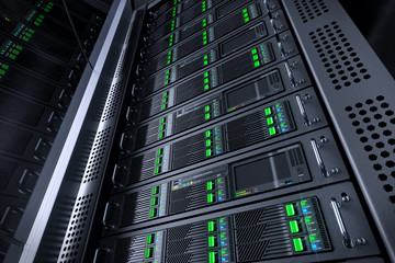 Server rack database. Telecommunication equipment.