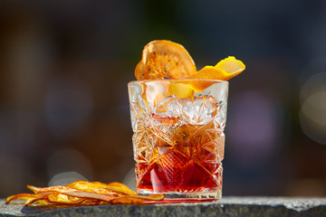 Old fashioned cocktail. Negroni Wall mural