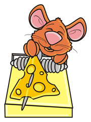 mousetrap,  peek, see, bait, trap, notice, mouse, rat, rodent, pest, animal, isolated, toy, piece, cartoon, brown, pet, cheese