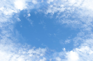 Wall Mural - Blue sky and clouds frame