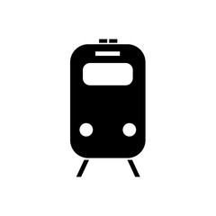 Train icon. Silhouette travel symbol. Vector illustration