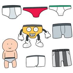 vector set of underwear
