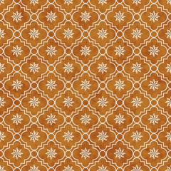 Orange and White Eight Pointed Pinwheel Star Symbol Tile Pattern