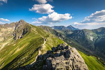 Summer Tatra Mountain, Poland, view from Kasprowy Wierch to Swin