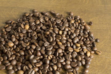 Closeup shot of coffee grain
