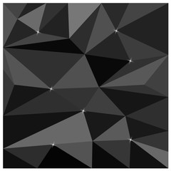 black polygon background