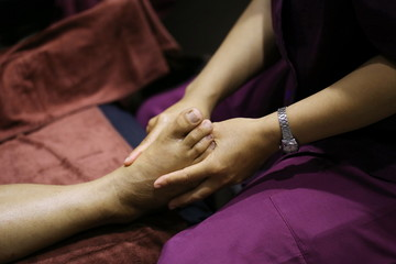 women hand foot massage