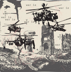 War Is - An hand drawn vector, freehand
