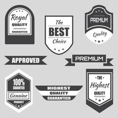 Set of retro vintage labels and badges. Vector illustration