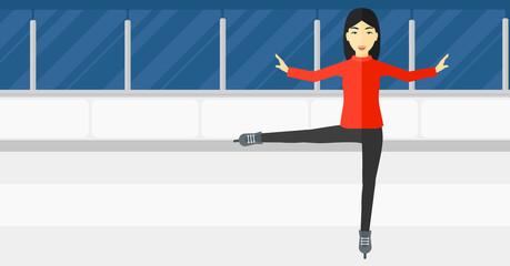 Female figure skater.