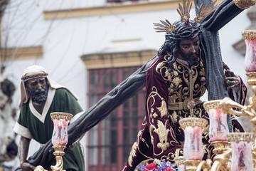 Paso de misterio de la hermandad de la esperanza de Triana, semana santa de Sevilla