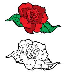 Tattoo rose design element