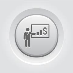Presentation Icon. Business Concept
