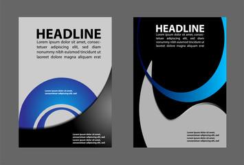Flyer design content background. Vector illustration. Design layout template