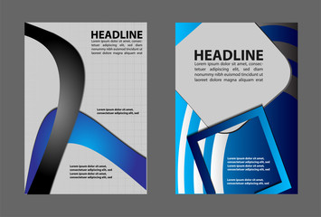 Vector design flyer black elements and place for text