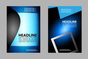 Vector design flyer white place fortext