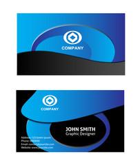 Blue modern business card template
