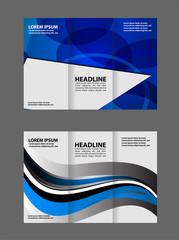 brochure design template tech